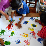Painting with the hands